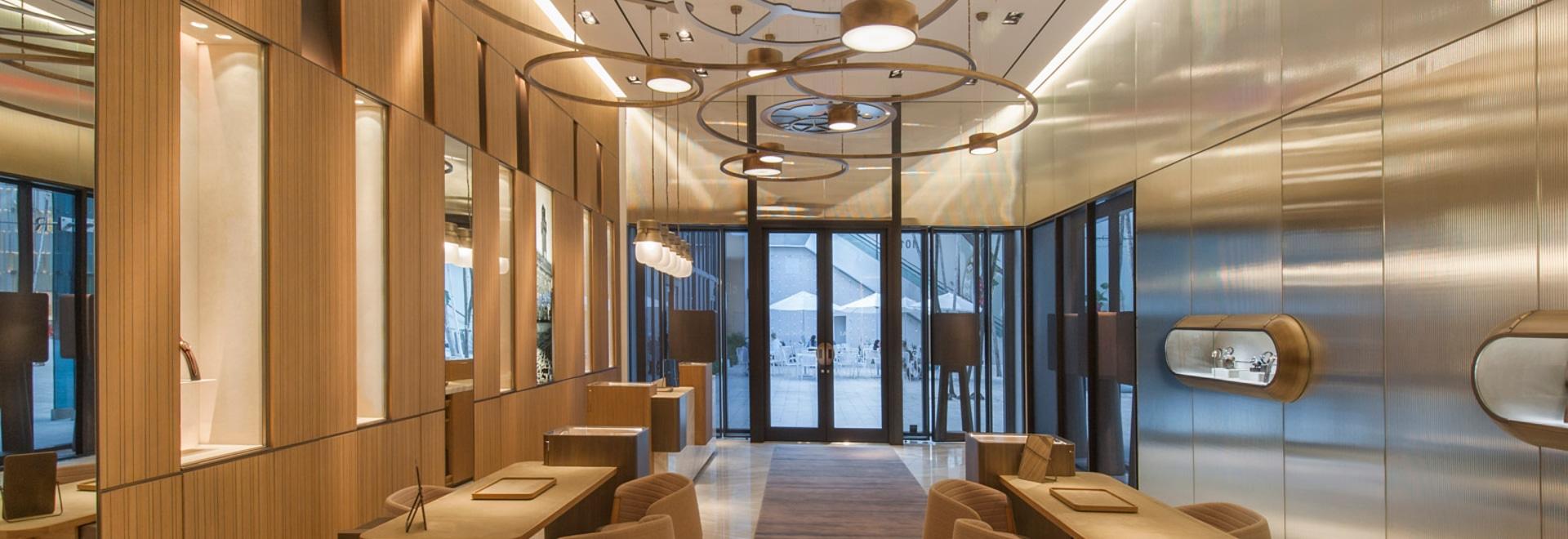 El diseño del almacén de Miami de Patricia Urquiola para las referencias de Panerai mira mecanismos