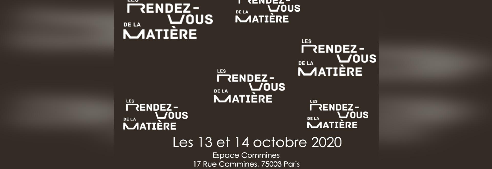 Ferias RDV de la matiere 13 al 14 de octubre en Francia