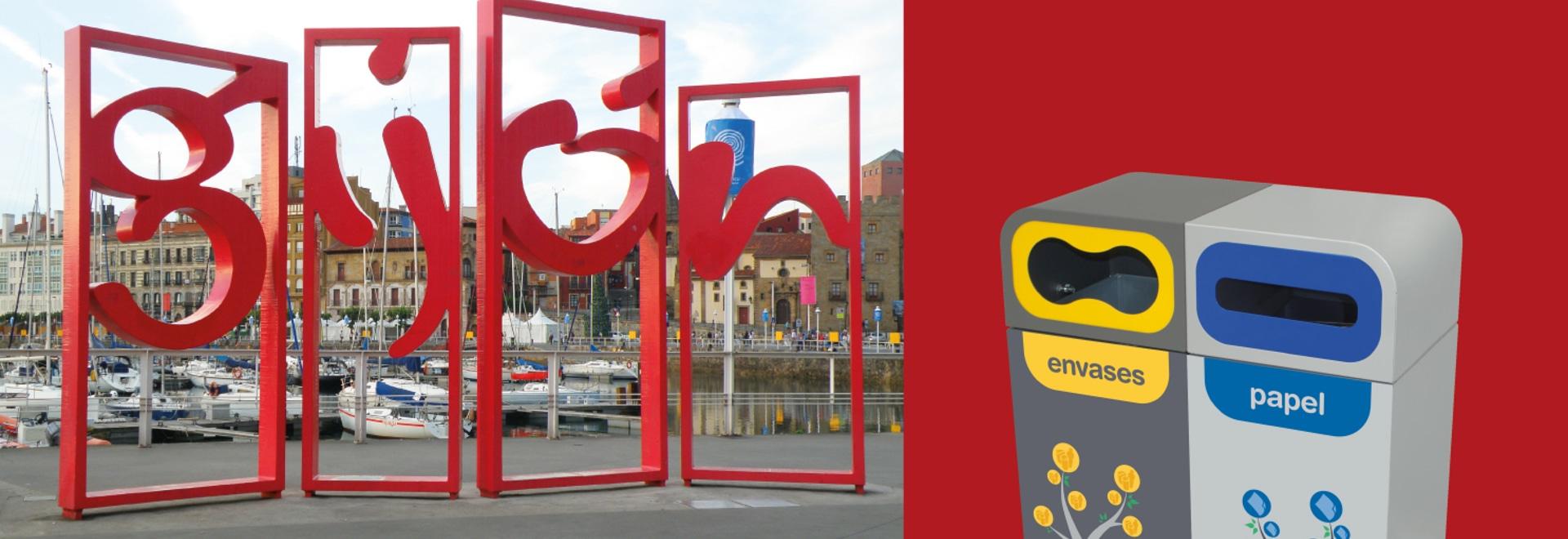 Gijón instala la papelera de reciclaje Bruselas en sus colegios