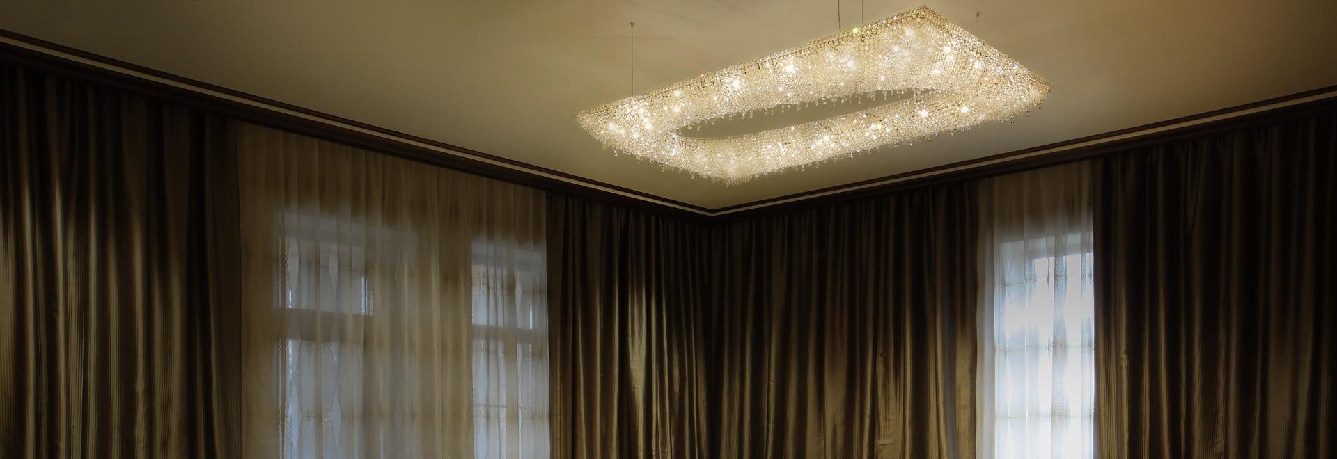 Lámpara cristalina de Artikoi en Moscú