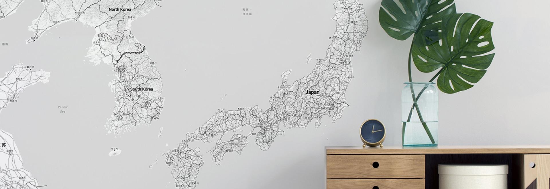 Mapa de Japón Minimalista