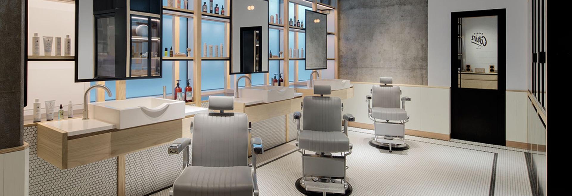 Minimalism y tradición Clean-Cut en el peluquero y la tienda RELACIONADOS en Dubai