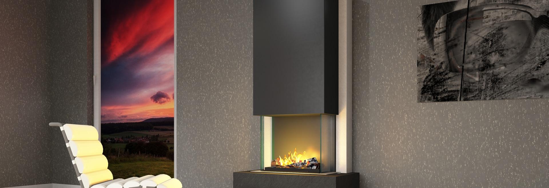 muenkel design Arco [chimenea eléctrica Opti-myst heat]