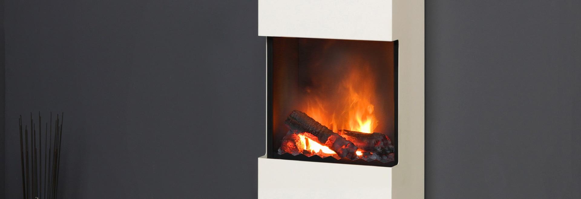 muenkel design flip [chimenea eléctrica / de etanol de pared o de pie]