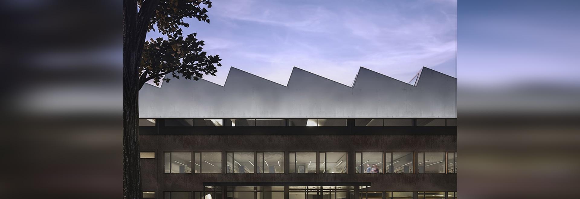 el neostudio reajusta la universidad del poznań de la biblioteca de las ciencias de la vida en Polonia