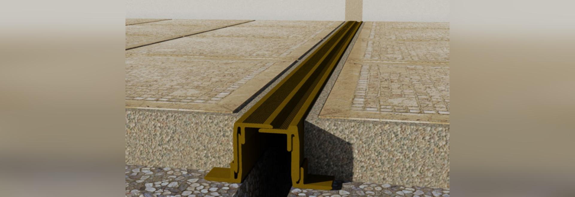 NUEVO: junta de dilatación del piso de Deflex