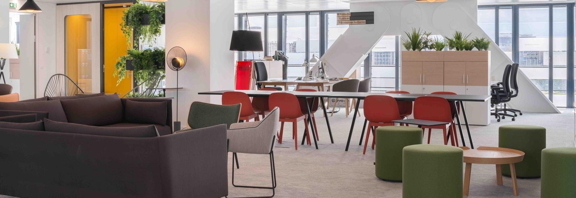 Oficinas abiertas para el Grupo Le Monde.