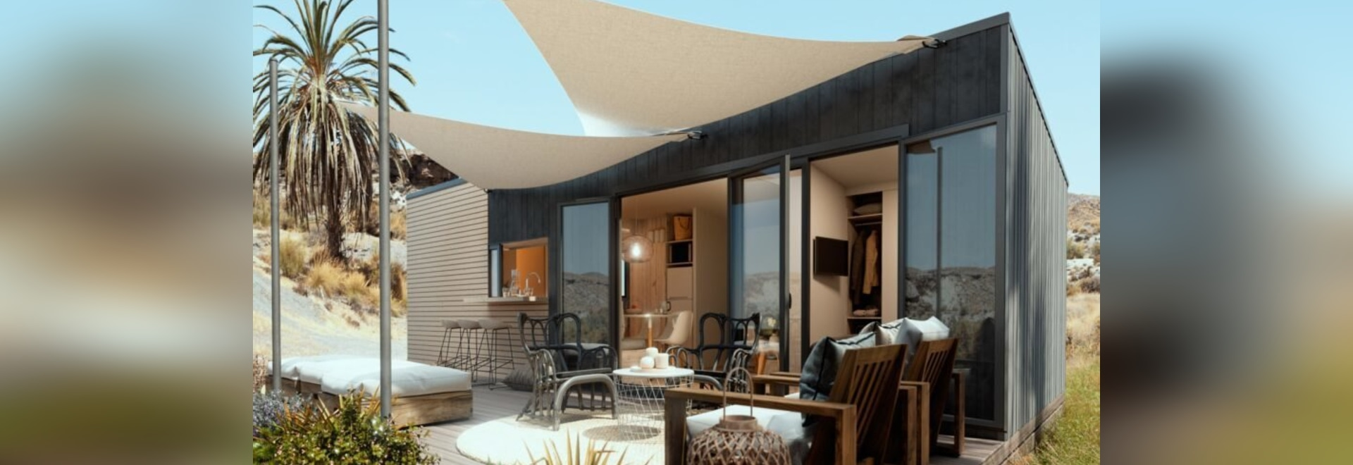 Una pequeña casa modular sobre ruedas puede albergar a una familia de 6 personas