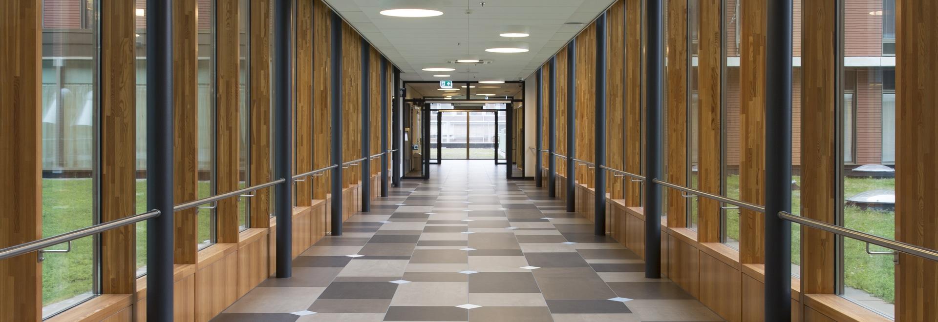 Piso tejado de la cerámica de Delft - un holandés crea para requisitos particulares por las tejas de Mosa
