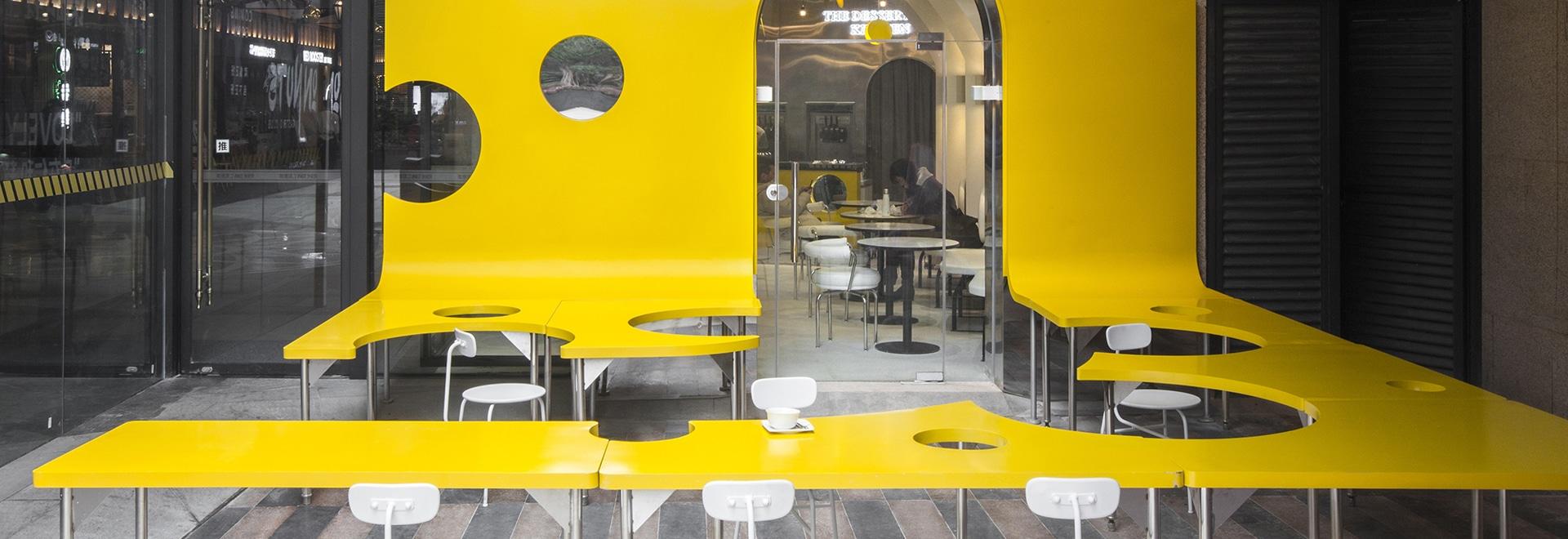Una rebanada de queso hace una entrada llamativa a este nuevo café postre