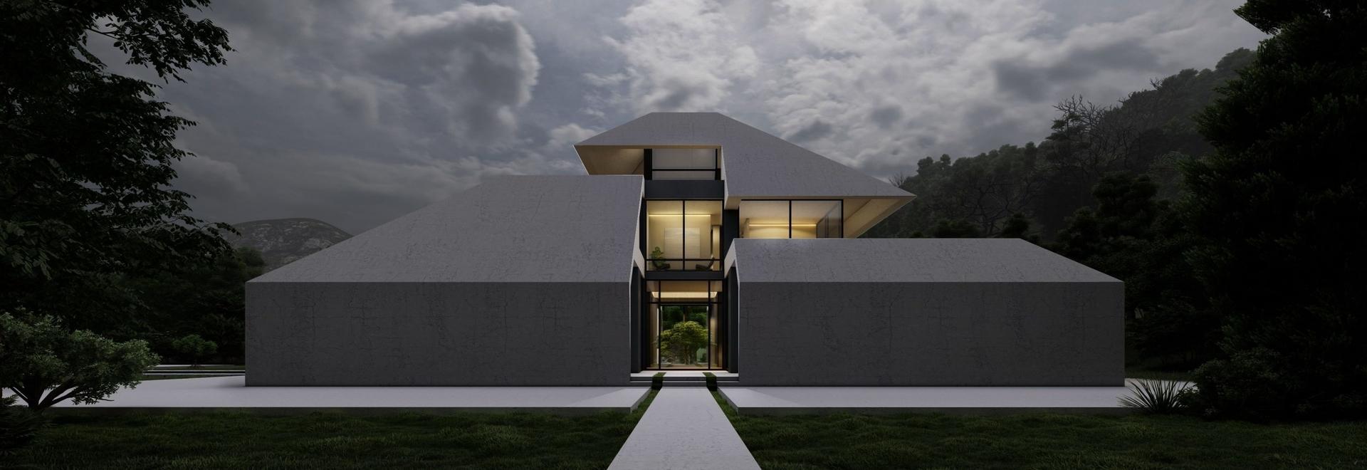"""La región húmeda y lluviosa de Irán inspira la """"villa gilak"""" de Team Design Group"""