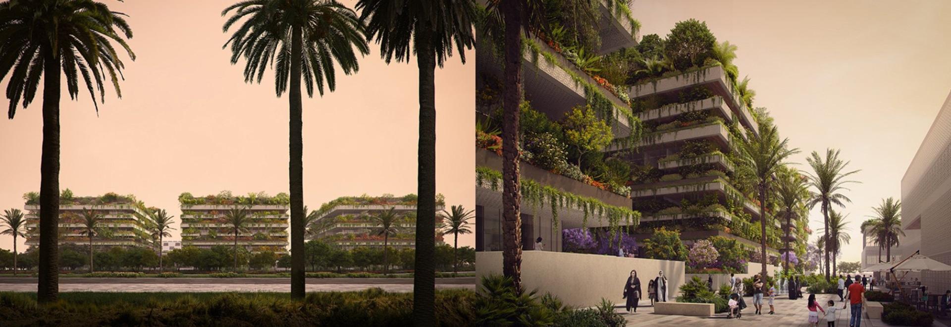 stefano boeri planea tres'cubos verdes' para egipto que formarán el primer bosque vertical de áfrica