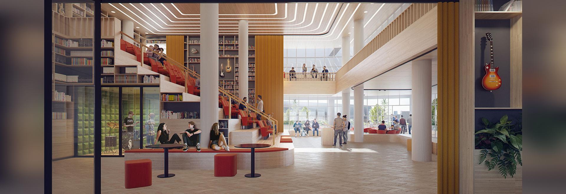La transformación de Mecanoo del diseño de la Biblioteca Central de La Haya