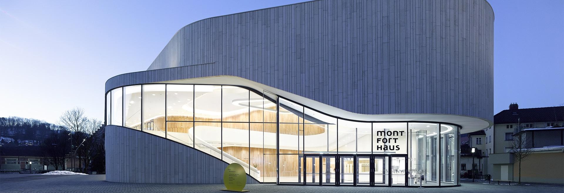 Zumtobel ilumina Montforthaus con una nueva solución única de la iluminación del LED