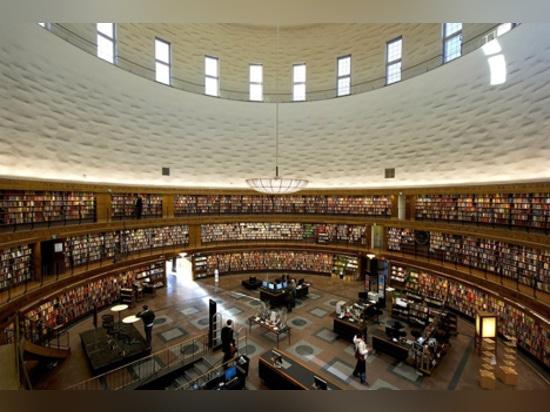 """Caruso San Juan """"reestructura"""" la biblioteca de ciudad de Estocolmo de Asplund"""