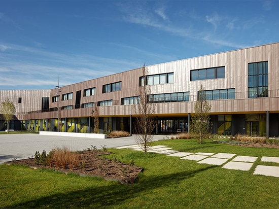 architectes más chartier del dalix construyen la escuela y el dormitorio verde-cubiertos del rosalind