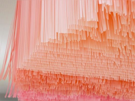 los filtros ligeros a través de los papeles, dando una impresión de luz natural que viene a través de las hojas en el bosque