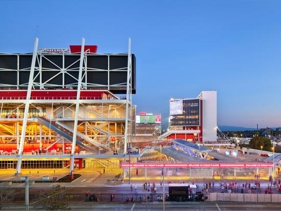 ¿ARCHITECTUREThe 50.o Superbowl en Levi? el estadio de s será un juego de la energía de la red-cero