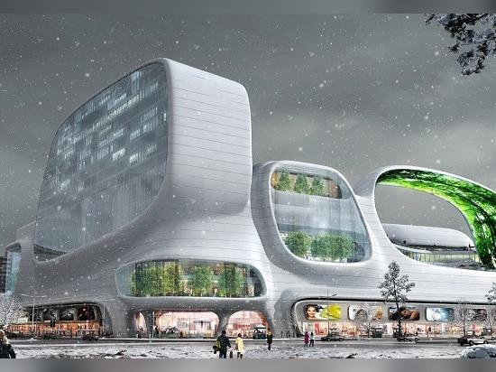 el edificio en el invierno
