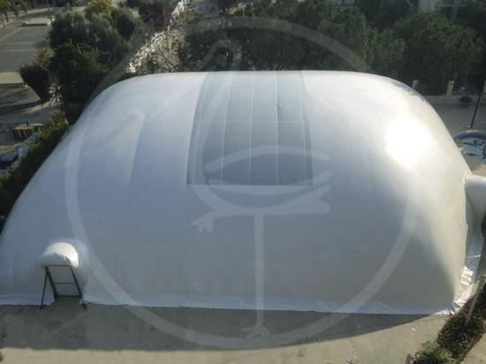 NUEVO: estructura inflable de la piscina pública de s.r.l. de la INGENIERÍA del P.M. - PLASTECOMILANO