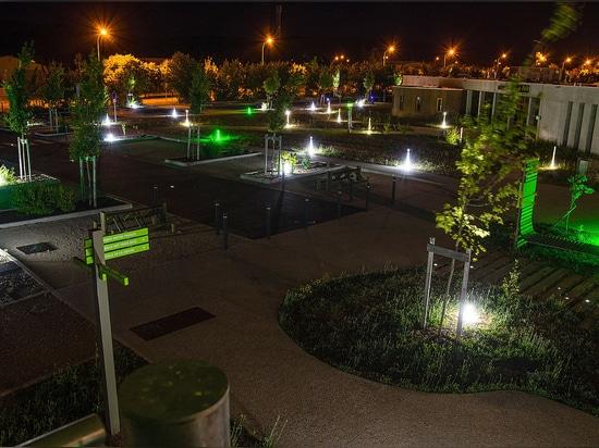Borneo®: Iluminación del LED para la arquitectura del paisaje