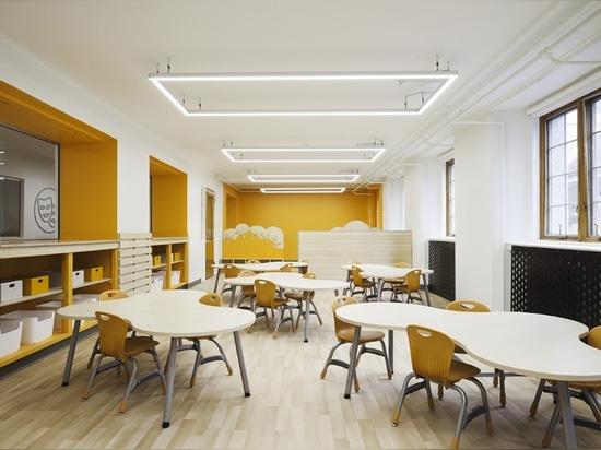 Diseño de Taktik, sala de clase de la guardería, academia de Sainte-Anne