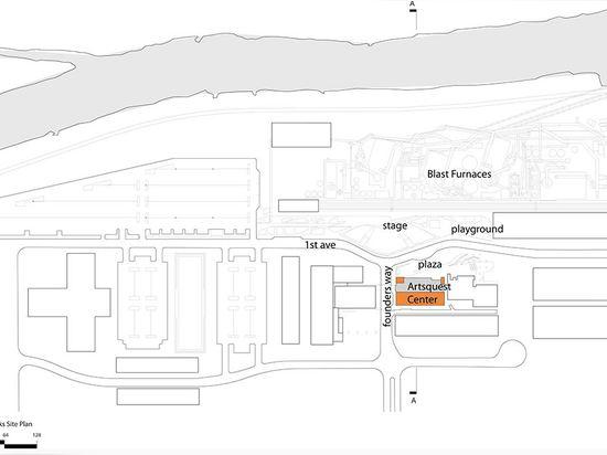 Plan de sitio (© del dibujo: Arquitectos del granjero de Spillman)