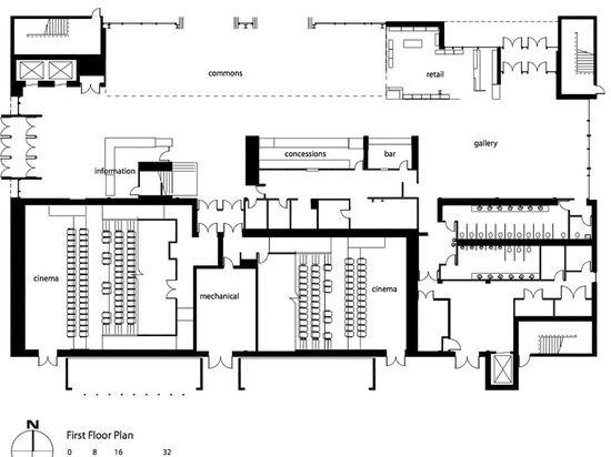 Plan de la primera planta (© del dibujo: Arquitectos del granjero de Spillman)