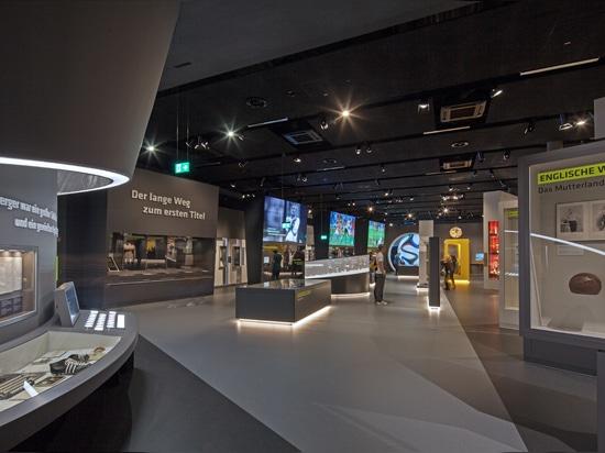 Pieza de Zumtobel del juego en el nuevo museo de DFB