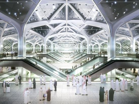 Piso aumentado Polygroup para los ferrocarriles la Arabia Saudita del tren rápido