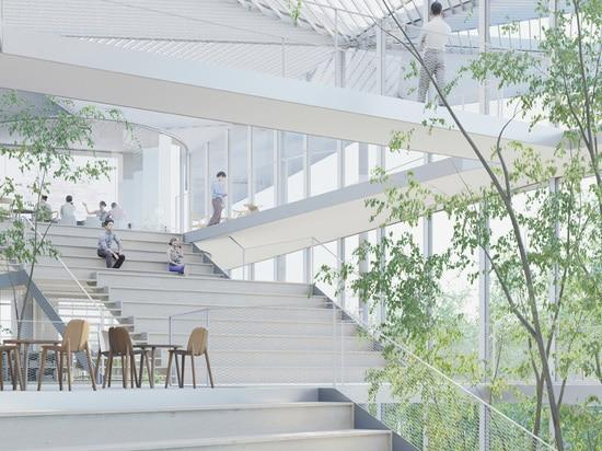 el edificio reúne a seis instituciones educativas y de investigación