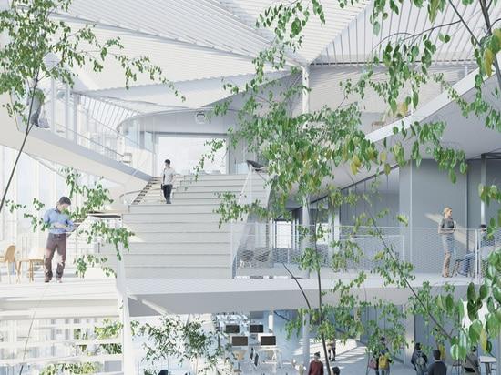 además de varios pasillos de conferencia y salas de clase numerosas, los espacios de enseñanza dedicados serán creados