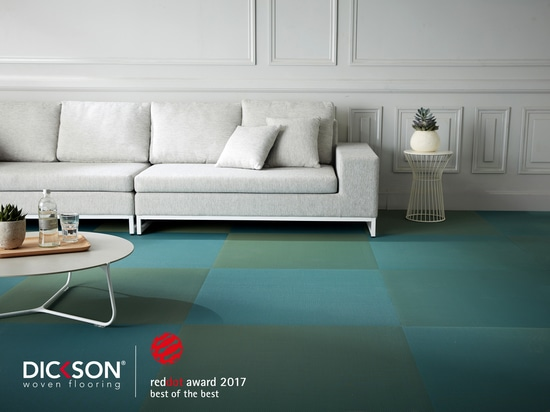 """Dickson obtiene el prestigioso Red Dot Award       """"Best of the Best"""" por el diseño innovador de su nueva colección de pavimentos de vinilo tejido fabricados en Francia"""