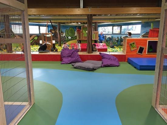 suelo interior de la seguridad del playfix® en Ketteler Hof interior.
