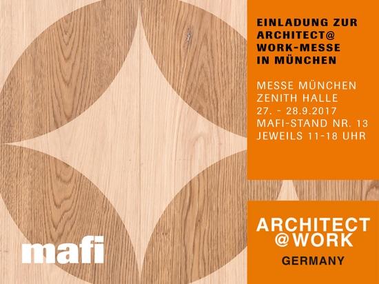 MAFI EN LA FERIA de ARCHITECT@WORK EN MUNICH, del 27ma HASTA el 28 de SEPTIEMBRE