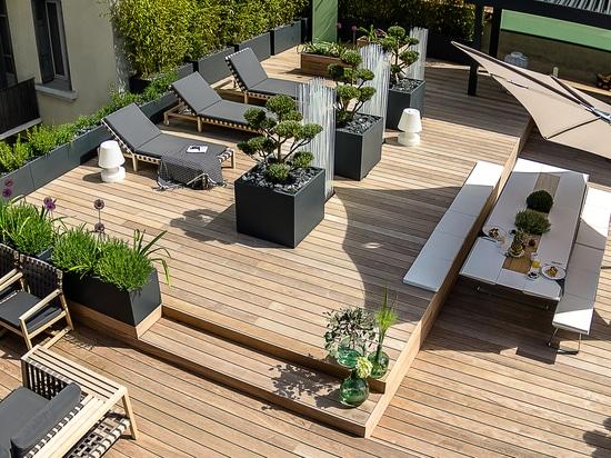 Plantadores de Image'In en tejado