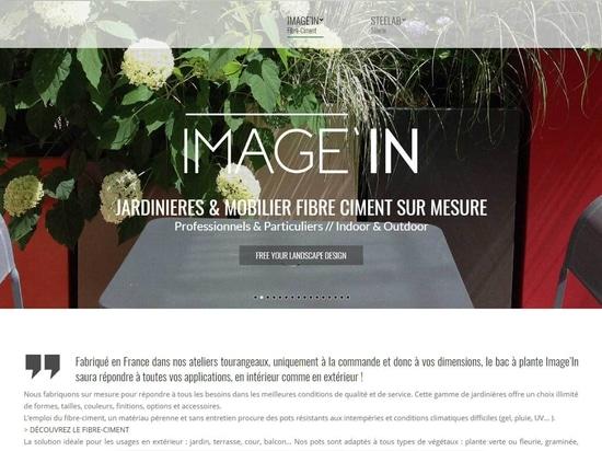 Plantadores de encargo y muebles de IMAGE'IN en fibra-cemento