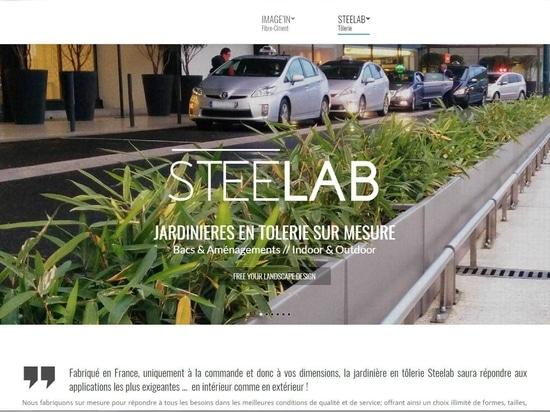 Plantadores de encargo y muebles de STEELAB en chapa