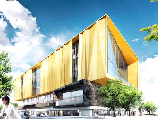 Los arquitectos de Lassen del martillo de Schmidt revelan los diseños para la nueva biblioteca central terremoto-resistente