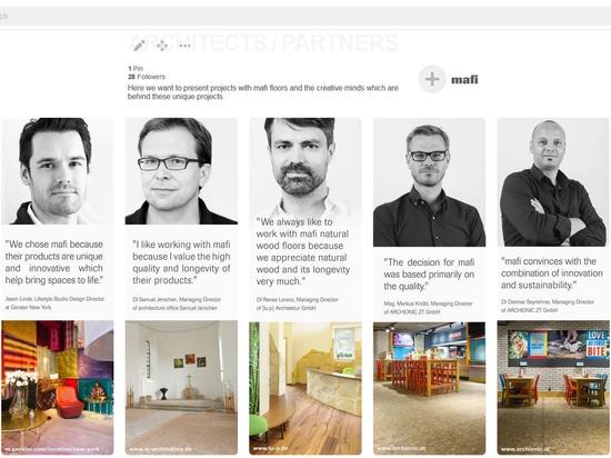 el mafi trae arquitectos y a diseñadores en el proyector