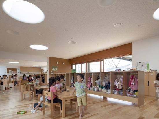 la guardería Verdor-infundida en Japón trae a niños más cercano a la naturaleza
