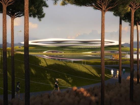 la construcción comienza por el campus de los deportes de los arquitectos ENOJADOS en quzhou, China