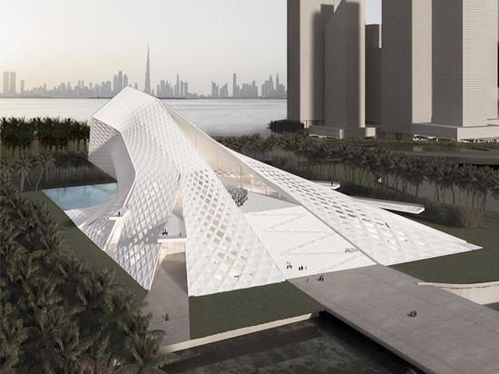 QASTIC dibuja en la naturaleza espiritual de la luz para la oferta de la mezquita del puerto de Dubai Creek