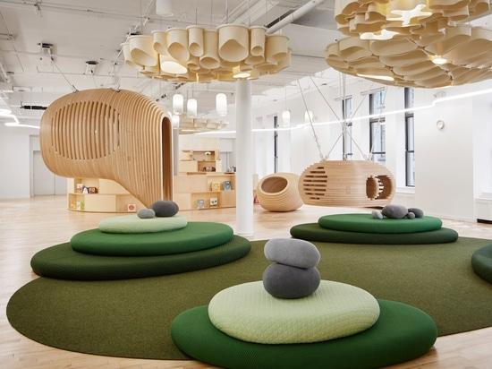 La primera escuela de WeGrow en Nueva York se llena de los espacios aislados