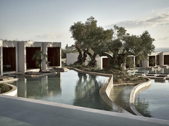 Olea todo el hotel/BLOCK722 architects+ de la habitación