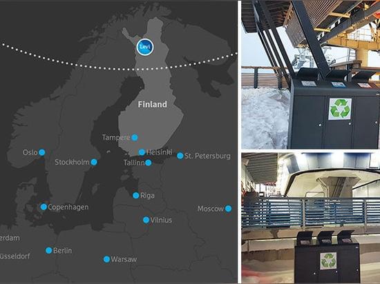 Levi Ski Resort en Finlandia recicla con Cervic Environment