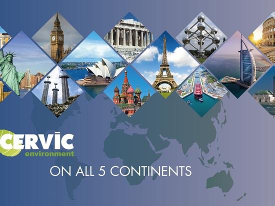 Cervic Environment en los 5 continentes