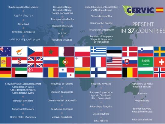 Presente en 37 países