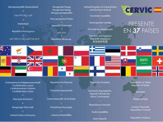 Cervic Environment está presente en los 5 continentes
