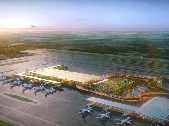 """El diseño de SOM para la nueva """"Garden Terminal"""" en el Aeropuerto Internacional de Kempegowda en Bengaluru"""